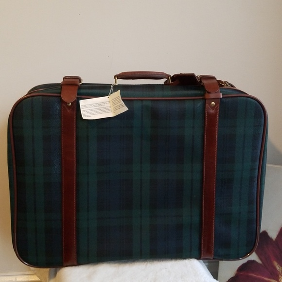 5eda192072 New Polo Ralph Lauren Tartan Plaid Large Suitcase!